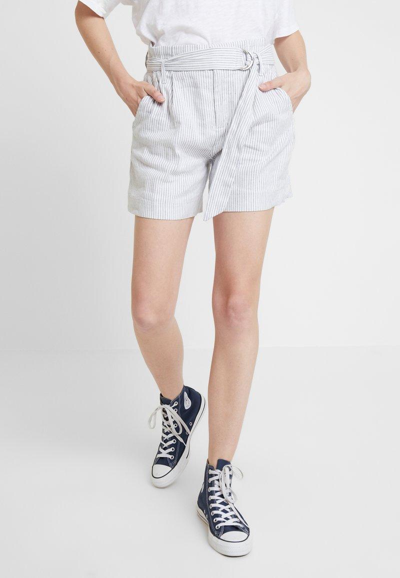 Banana Republic - BELTED MINI STRIPE - Shorts - white