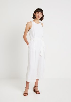 BELTED - Jumpsuit - white