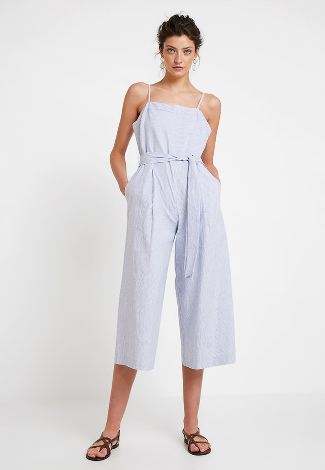 STRAPPY STRIPE - Jumpsuit - light blue