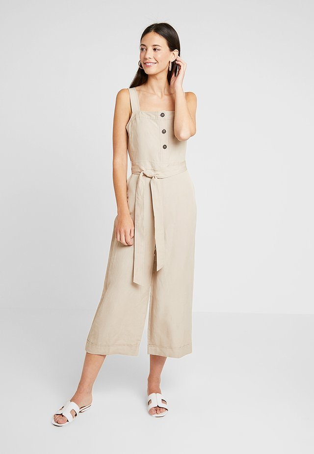 BUTTON FRONT - Jumpsuit - golden beige