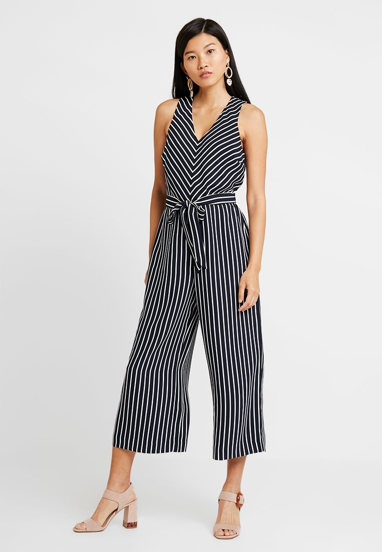 Banana Republic - CROPPED V NECK STRIPE - Jumpsuit - navy/white
