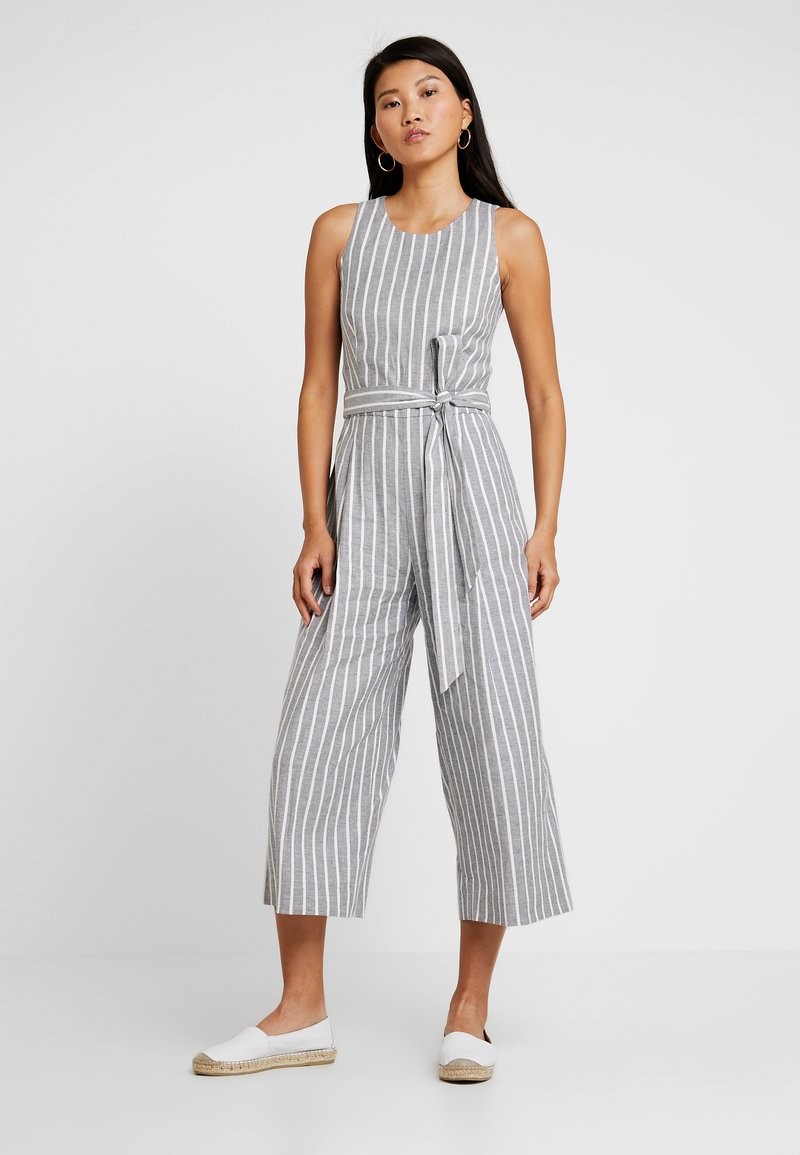 Banana Republic - STRIPE CROPPED - Jumpsuit - grey
