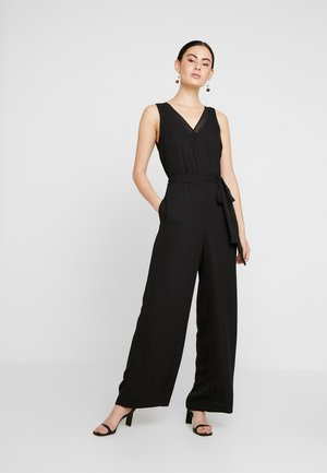 VNECK WIDE LEG - Jumpsuit - black