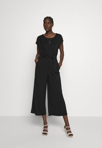 Banana Republic - BOATNECK WRAP KNIT SOLID - Tuta jumpsuit - black - 0