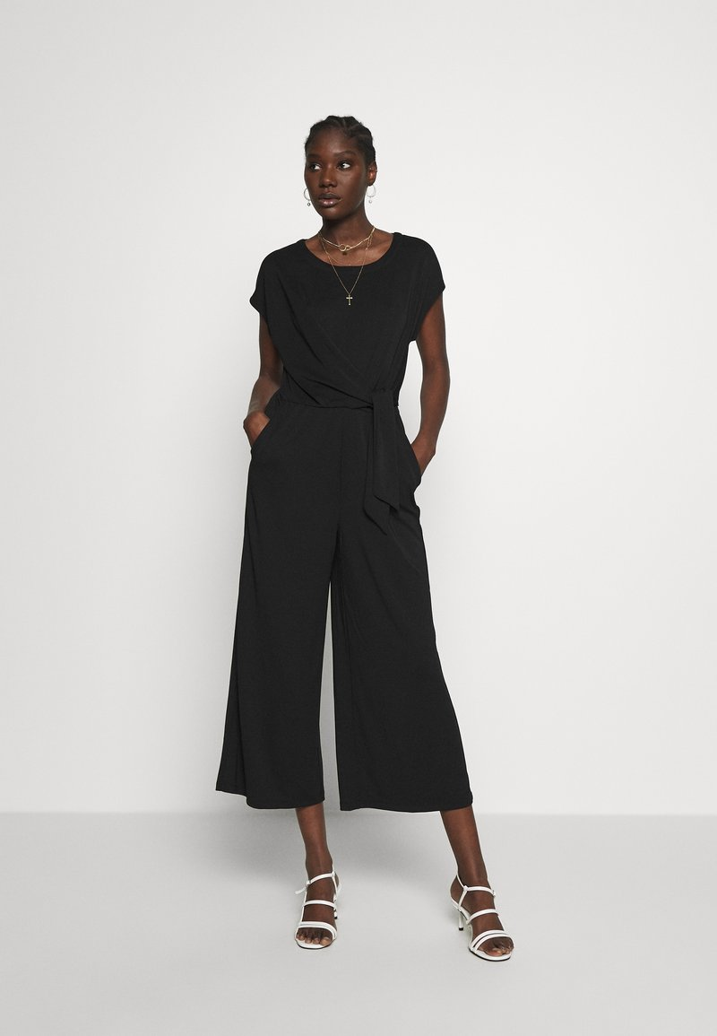 Banana Republic - BOATNECK WRAP KNIT SOLID - Tuta jumpsuit - black