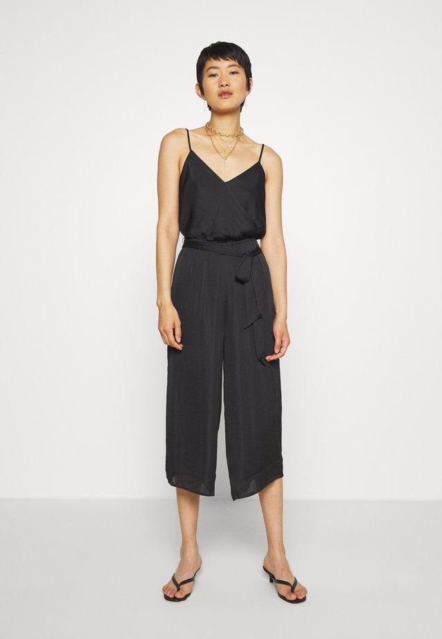 STRAPPY WRAP - Maxi dress - black