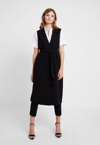 Banana Republic - MAXI TRENCH - Trench - black - 1