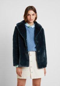 Banana Republic - OVERSIZED COLLAR COAT - Winter jacket - navy - 0