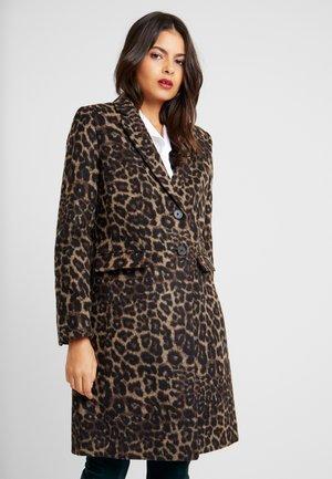 LEOPARD TOP COAT - Classic coat - camel