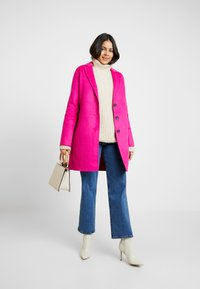 Banana Republic - DOUBLE FACE TOP COAT - Manteau classique - hot bright pink - 1