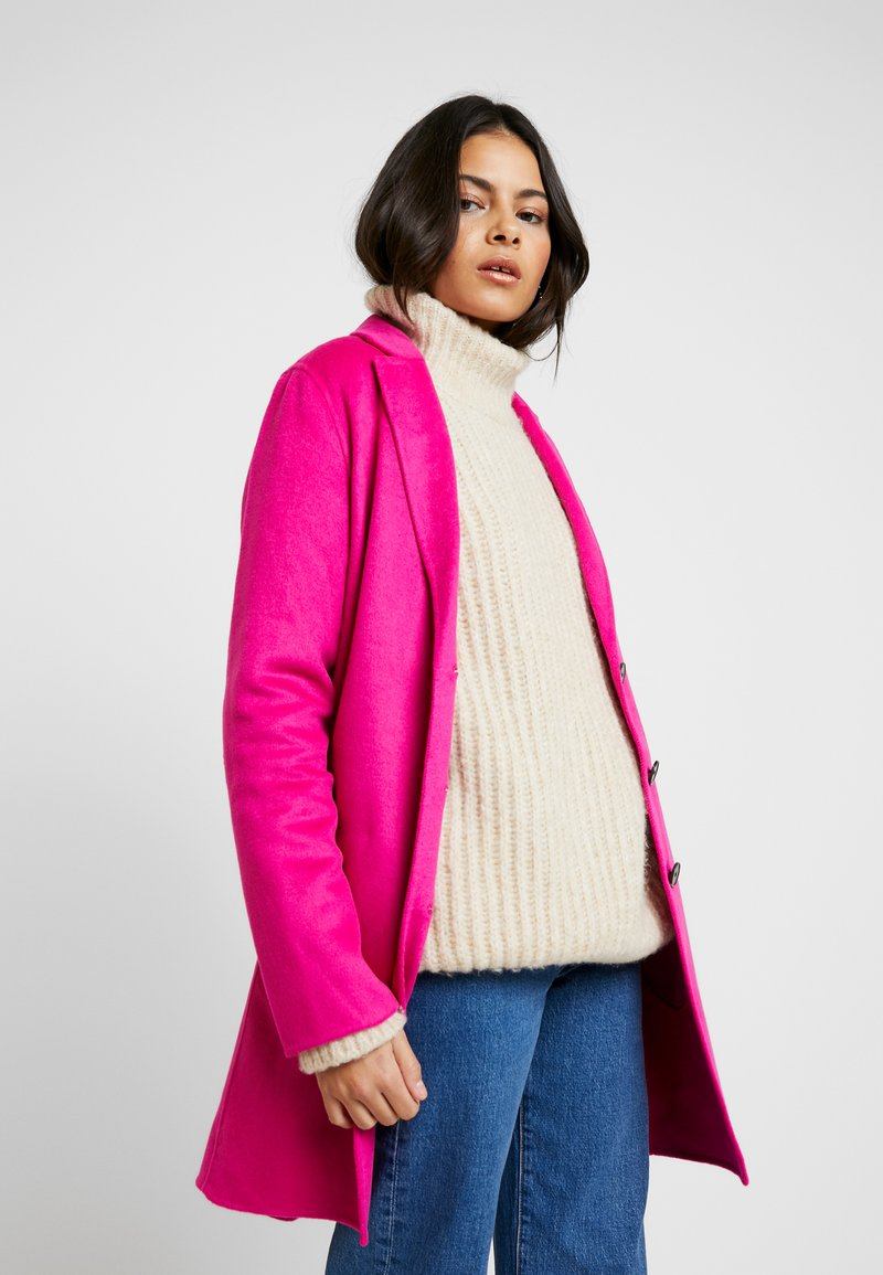 Banana Republic - DOUBLE FACE TOP COAT - Manteau classique - hot bright pink