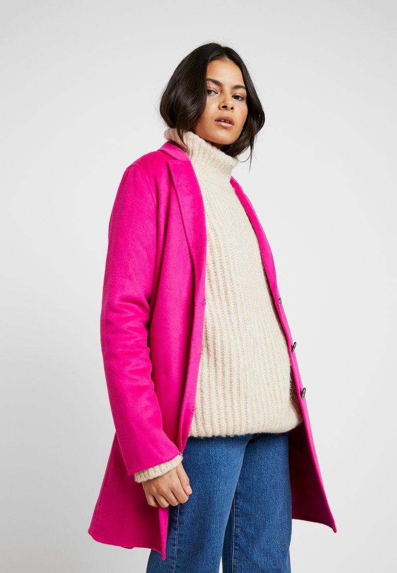Banana Republic - DOUBLE FACE TOP COAT - Mantel - hot bright pink