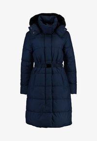 Banana Republic - LONG PUFFER FUR TRIM HOOD - Winter coat - preppy navy - 4