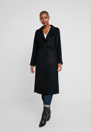 I DOUBLE FACE LONG - Classic coat - black