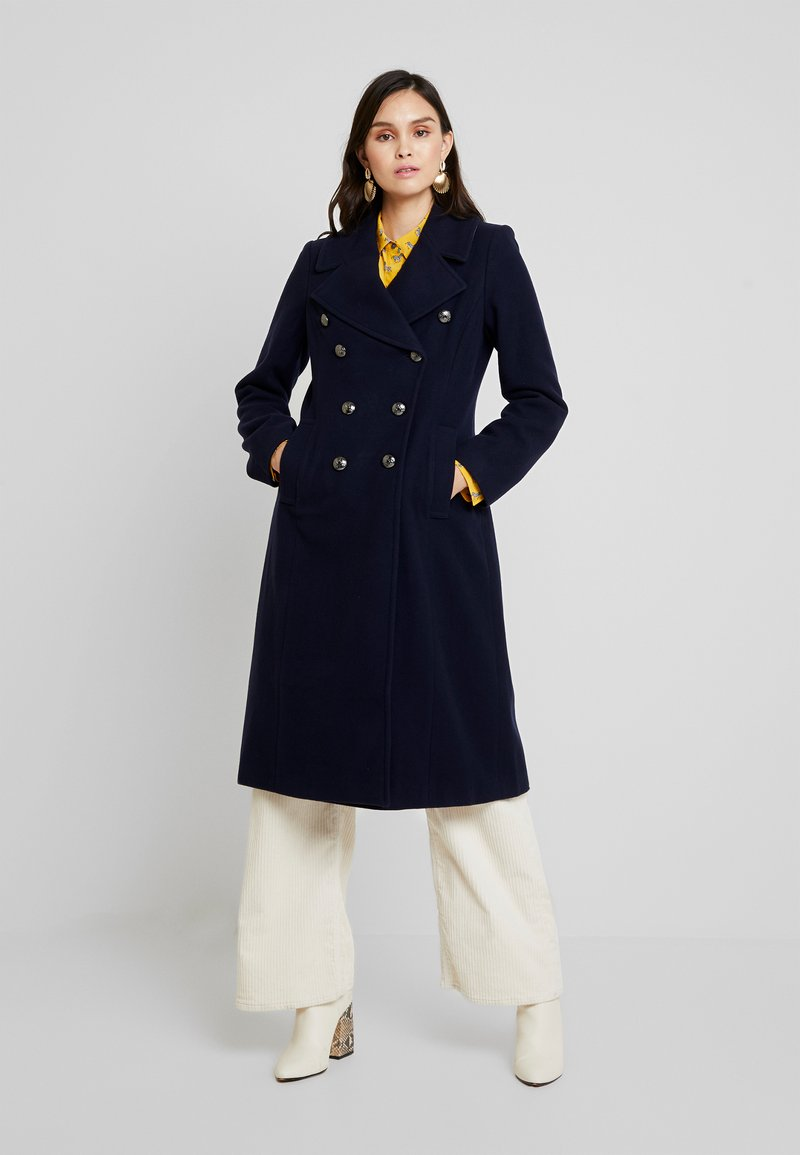 Banana Republic - MELTON MILITARY MAXI COAT - Mantel - navy