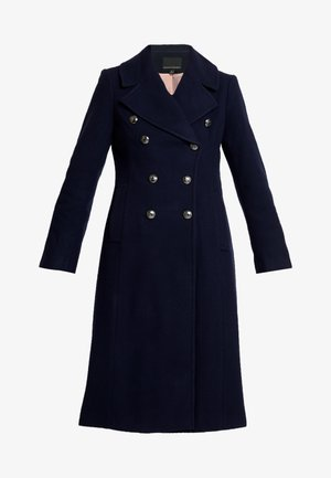 MELTON MILITARY MAXI COAT - Classic coat - navy
