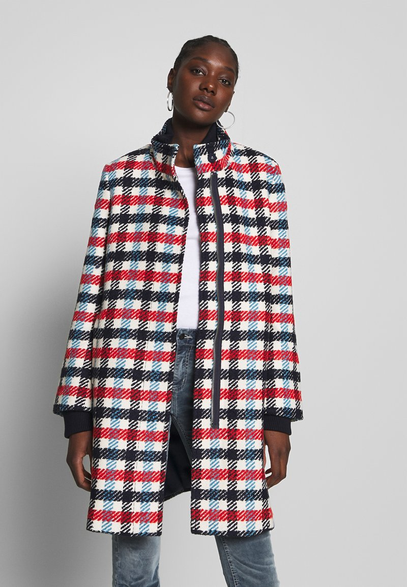 Banana Republic - TRIM PLAID COAT - Classic coat - snow day