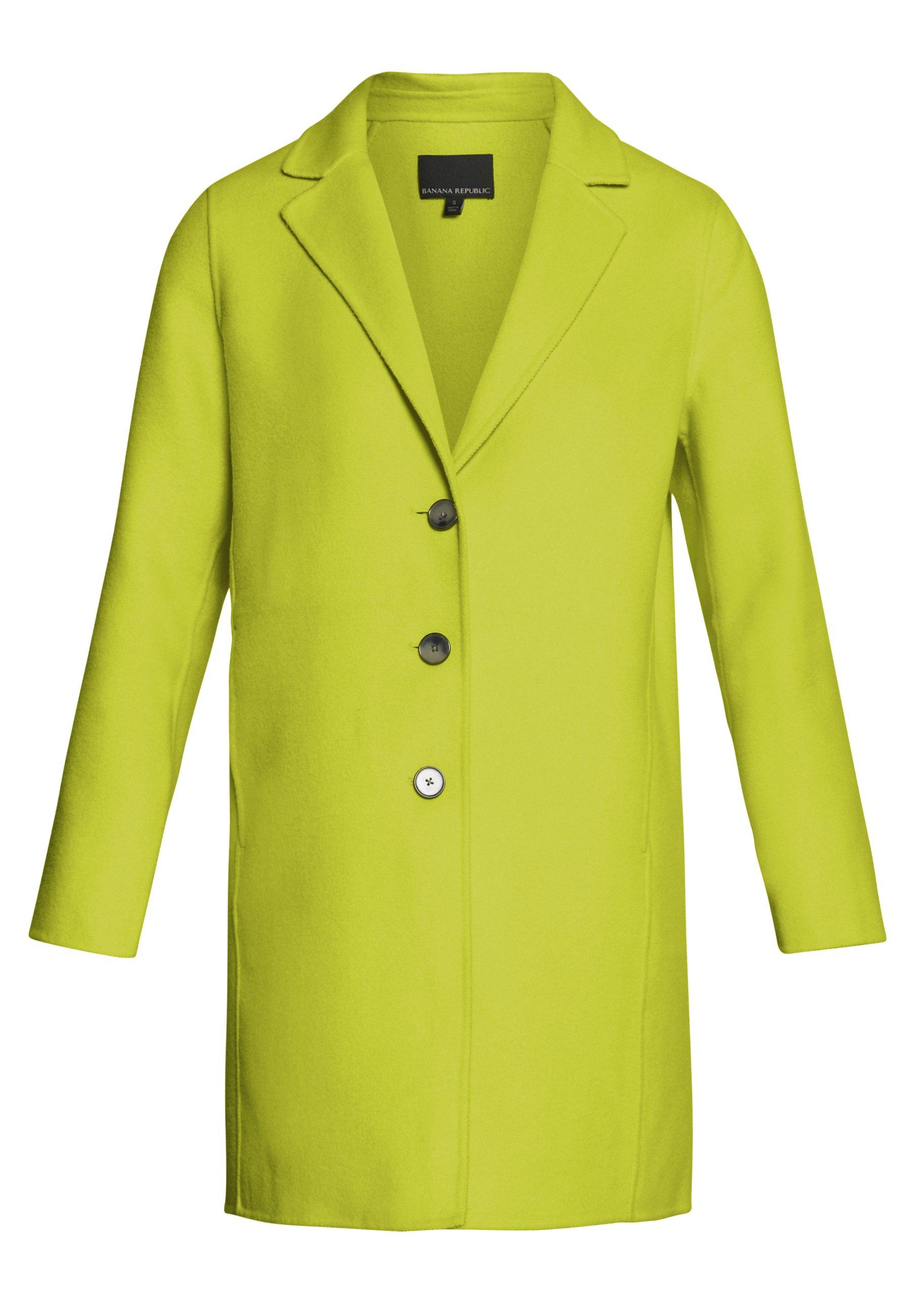Banana Republic Double Face Coat - Kort Kappa / Rock Neon Yellow