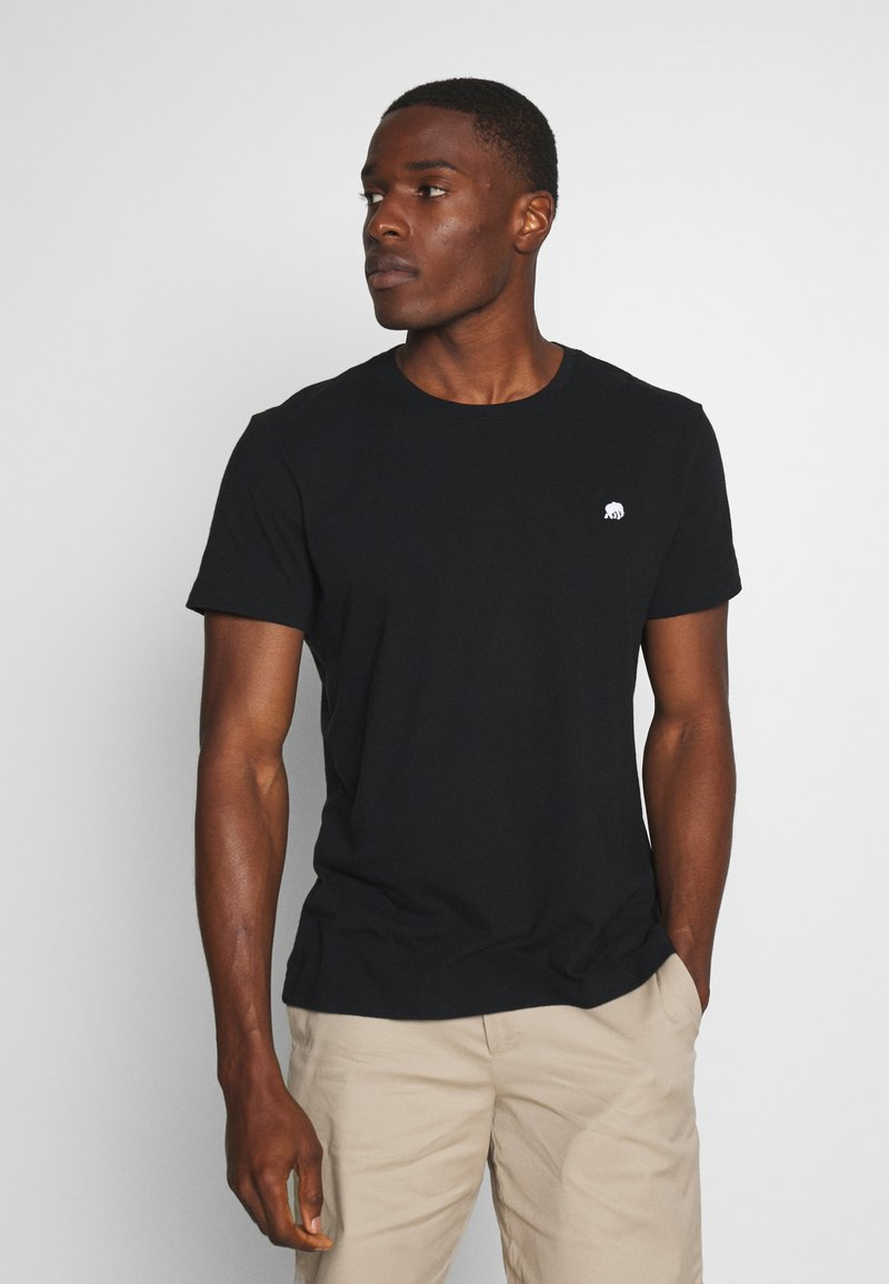 Banana Republic - LOGO SOFTWASH TEE - T-shirt basic - black