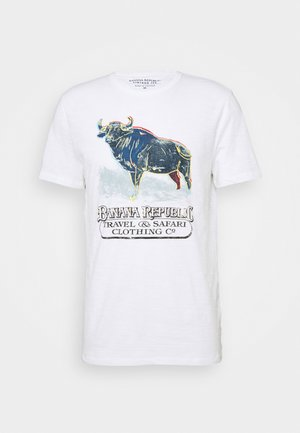 BULL NEON GRAPHIC TEE - T-shirt con stampa - optic white