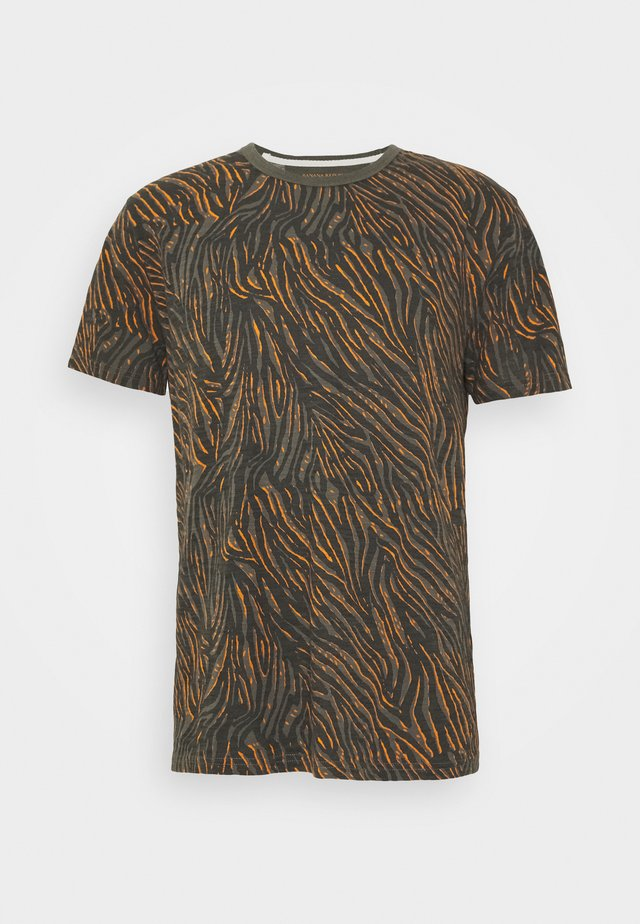 ZEBRA POP GRAPHIC TEE - T-shirt con stampa - grey slate