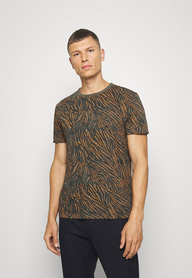 ZEBRA POP GRAPHIC TEE - Print T-shirt - grey slate