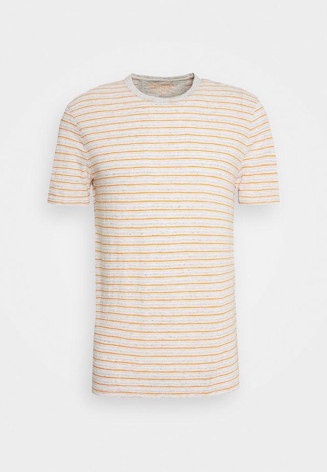VINTAGE SLUB CREW - T-shirt con stampa - light oatmeal