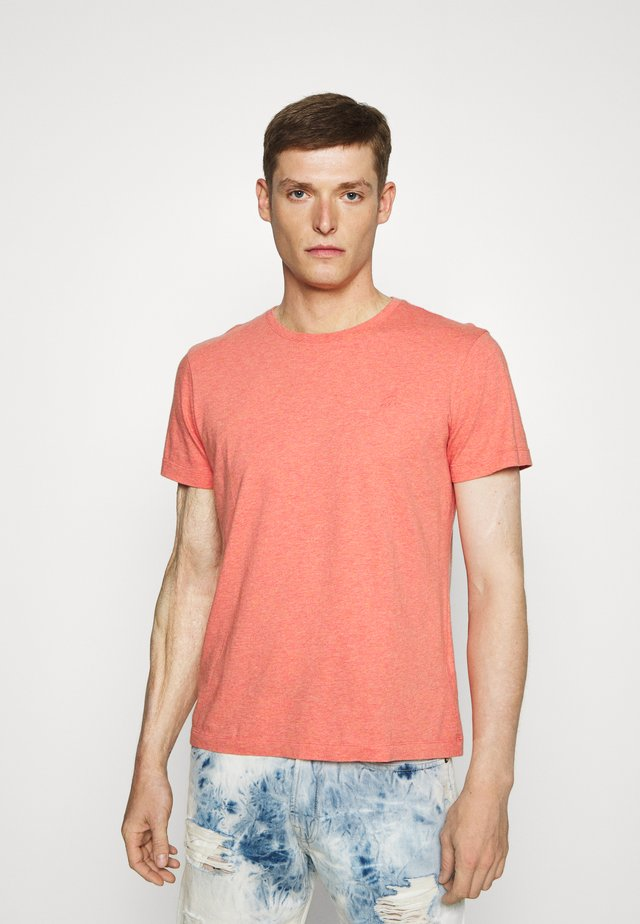 LOGO SOFTWASH ORGANIC TEE - T-shirt basic - coral dream