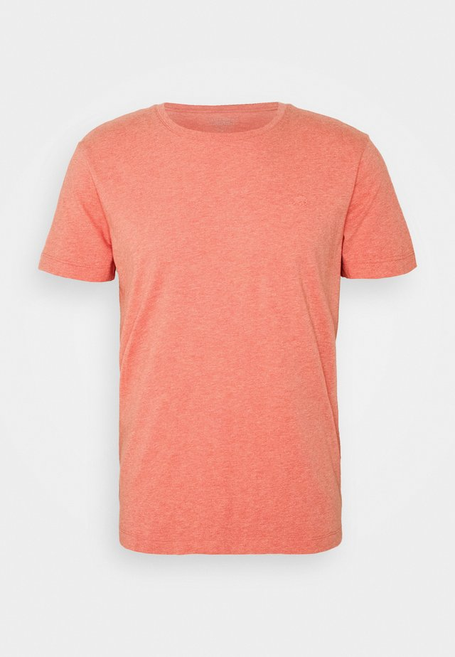 LOGO SOFTWASH ORGANIC TEE - T-shirts basic - coral dream