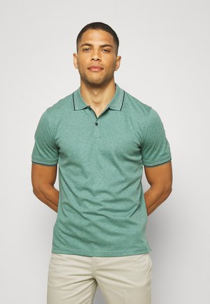 TEXTURE TIPPED - Polo shirt - misty sage