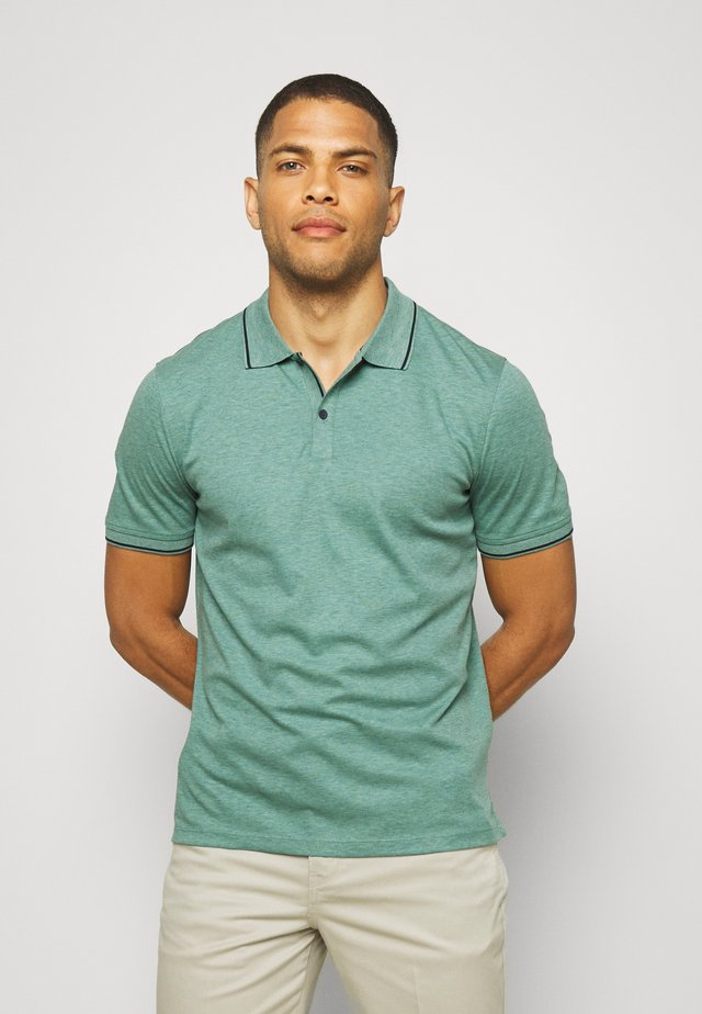 TEXTURE TIPPED - Poloshirts - misty sage