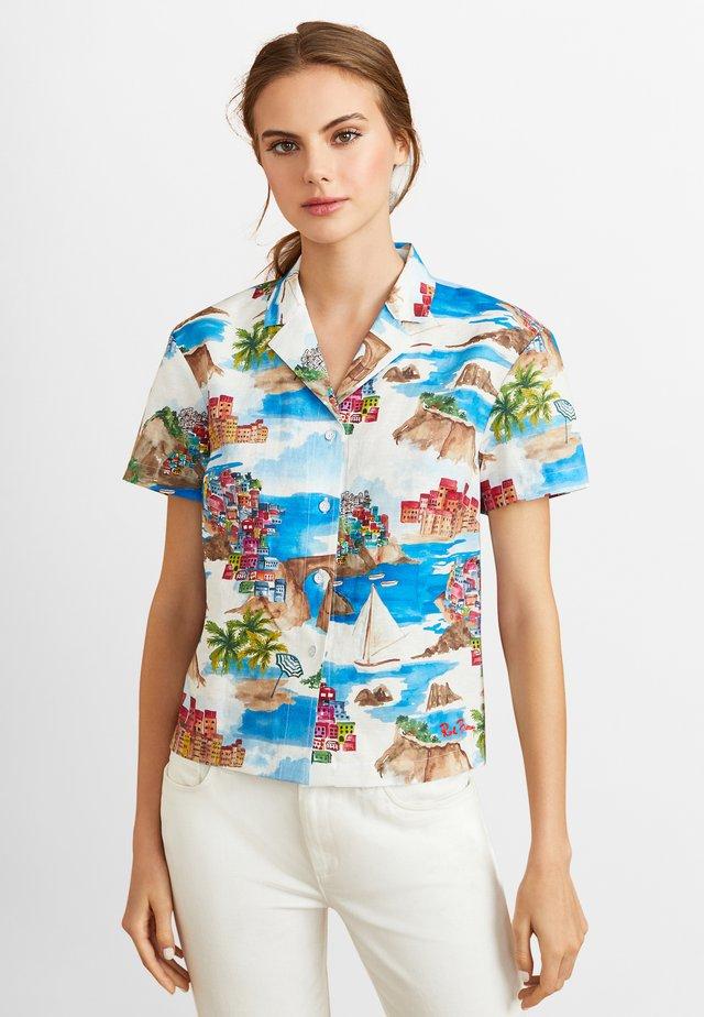 Button-down blouse - open white