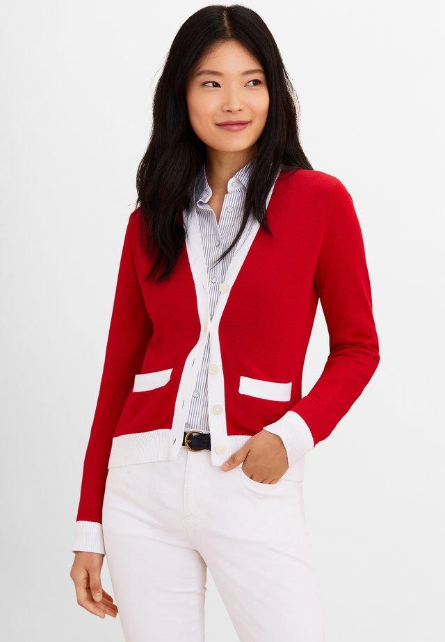 Cardigan - bright red