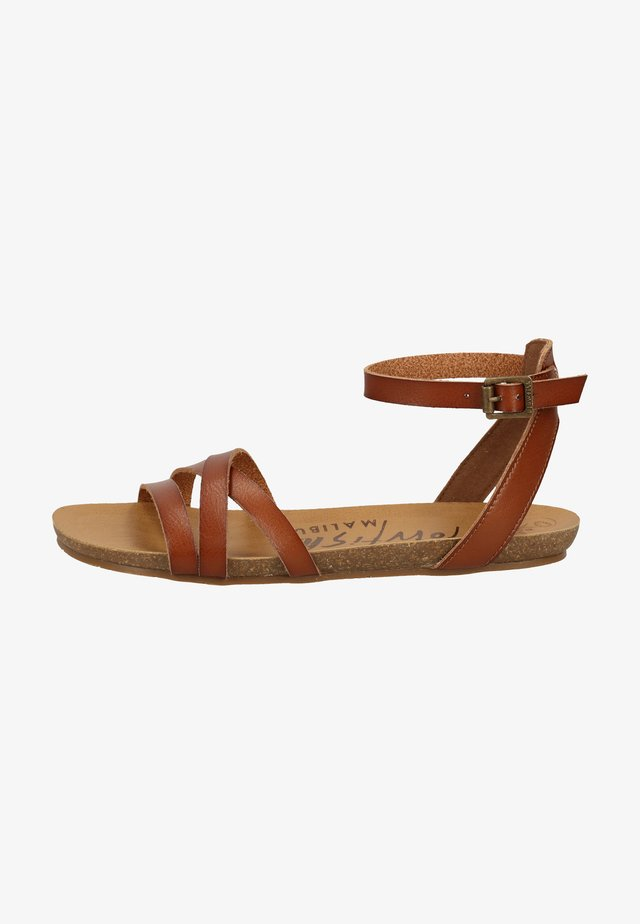 Ankle cuff sandals - scotch