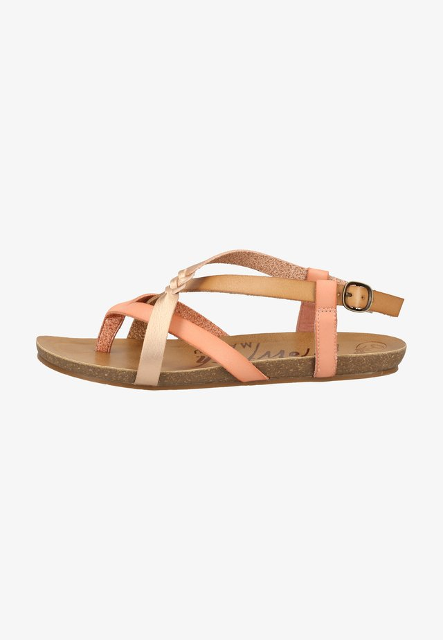 T-bar sandals - terracotta/nude/pearl rosegold