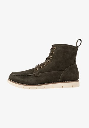 BOOT - Lace-up ankle boots - forest night