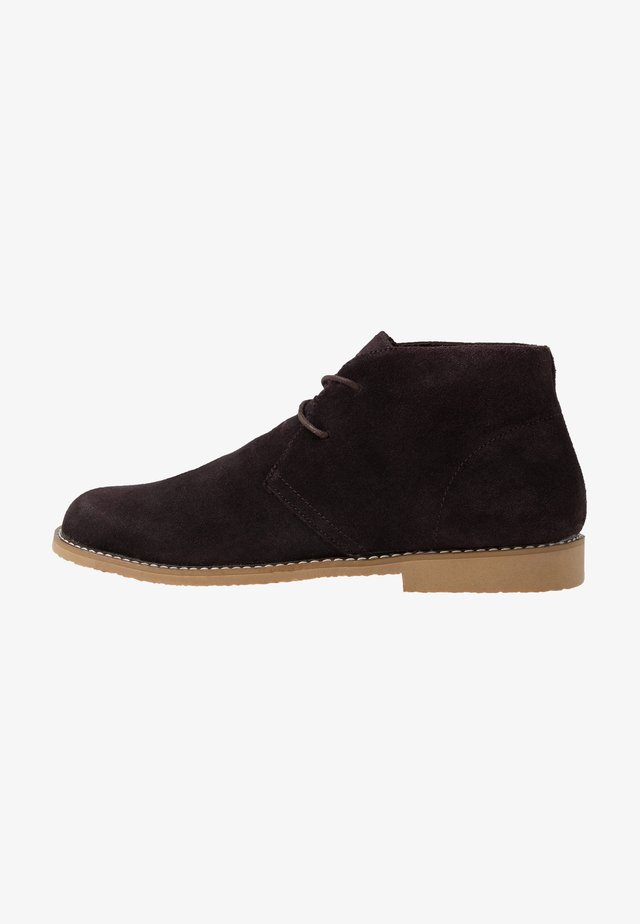 Casual lace-ups - coffee bean brown