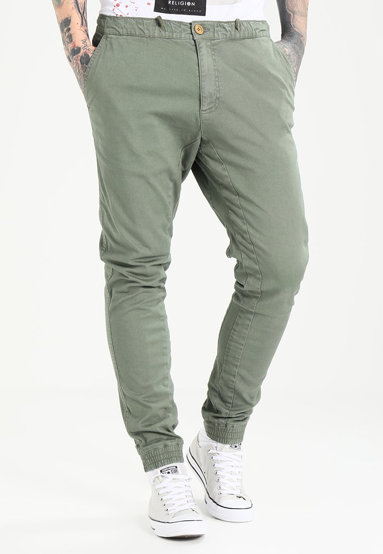Blend - Trousers - dusty olive green