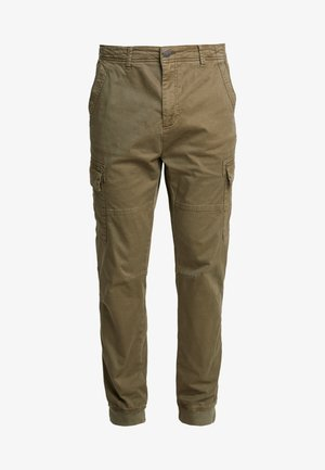 PANTS - Cargo trousers - olive night green