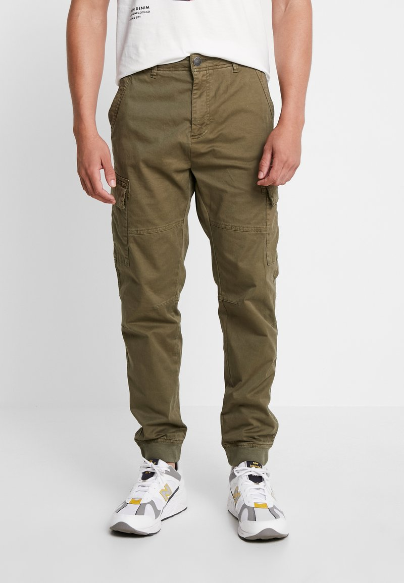 Blend - PANTS - Cargo trousers - olive night green