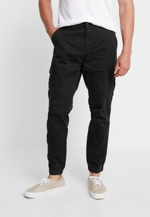 PANTS - Cargobyxor - black