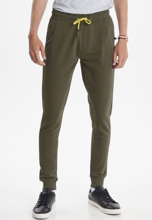 SLIM FIT - Pantalon de survêtement - olive night green
