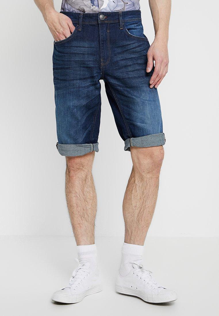 Blend - Jeans Shorts - denim dark blue