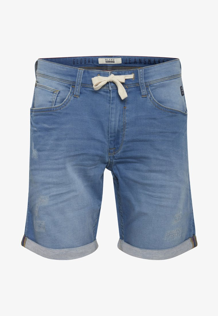Blend - Short en jean - denim middle blue
