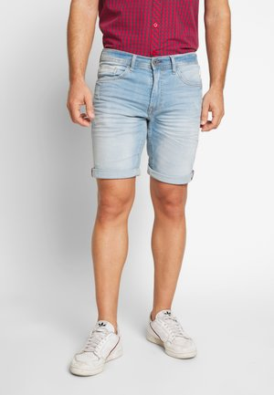 SCRATCHES - Denim shorts - denim light blue