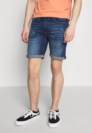 SCRATCHES - Jeansshorts - denim dark blue