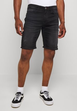 SCRATCHES - Denim shorts - black denim