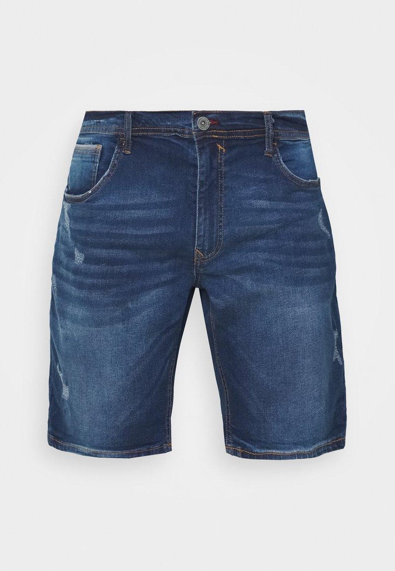 Blend - DENIM  - Denim shorts - denim dark blue