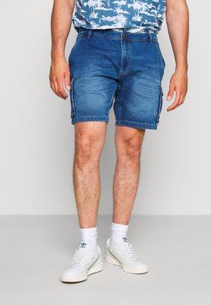 Jeansshort - denim middle blue