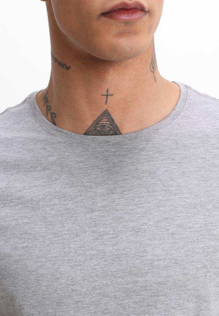 Blend 2-PACK - T-shirt basique - black/stonemix